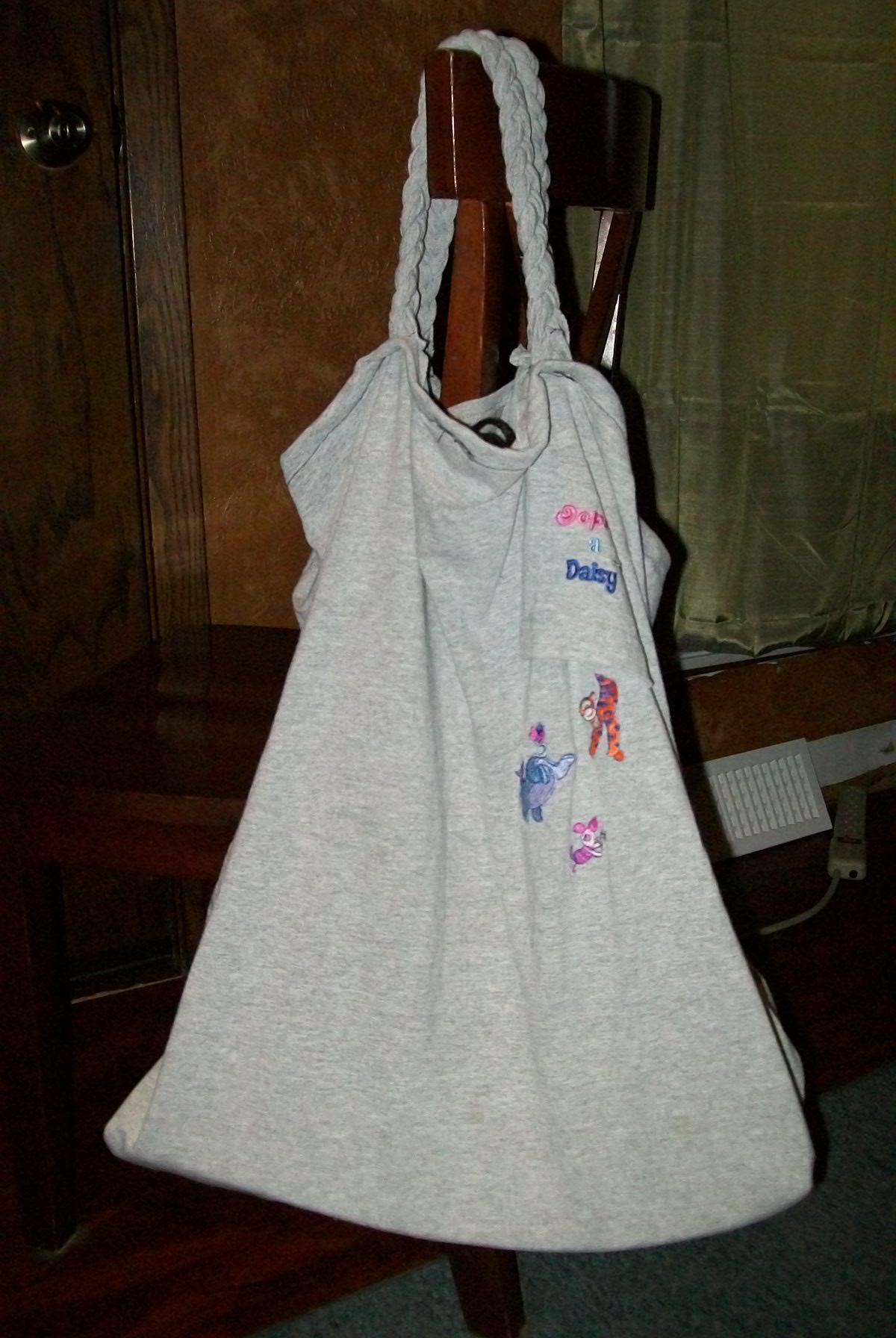 Recycled T-Shirt Grocery Bag