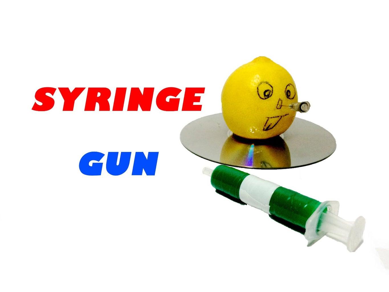 How to Make Homemade Syringe Gun ( DIY  )