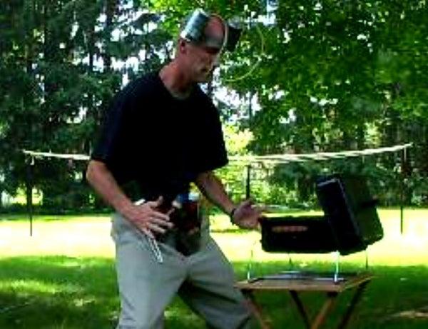 Backyard BBQ Utility Belt & Drink Helmet From Duct Tape