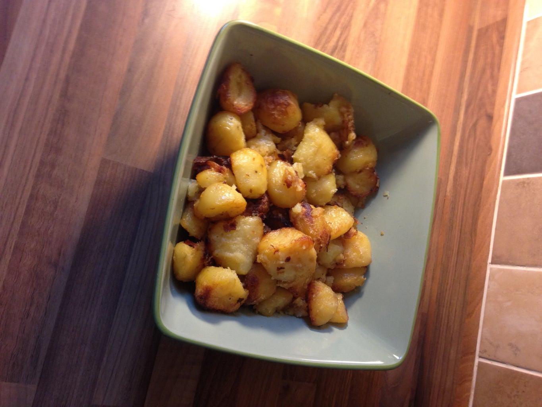 Add Salt and Pepper and Stir, Roast Until Golden