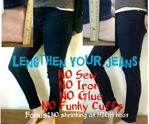 Easy Jeans (& Pants) Lengthening