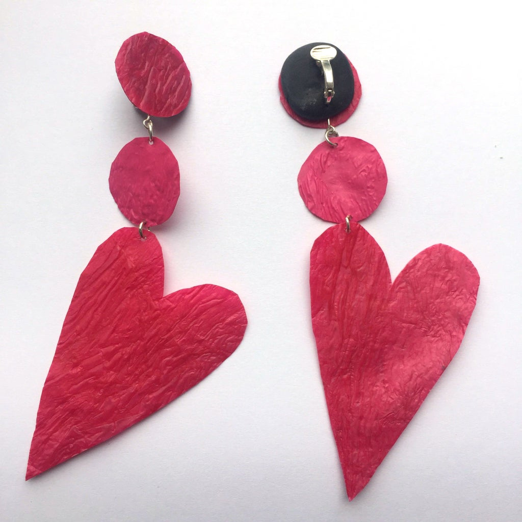 Valentines Day Heart Earrings