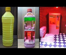 DIY |How to Make Miniature Doll House From Plastic Bottle|Fairy House With Light