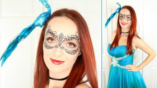 Masquerade Mask Makeup & Outfit
