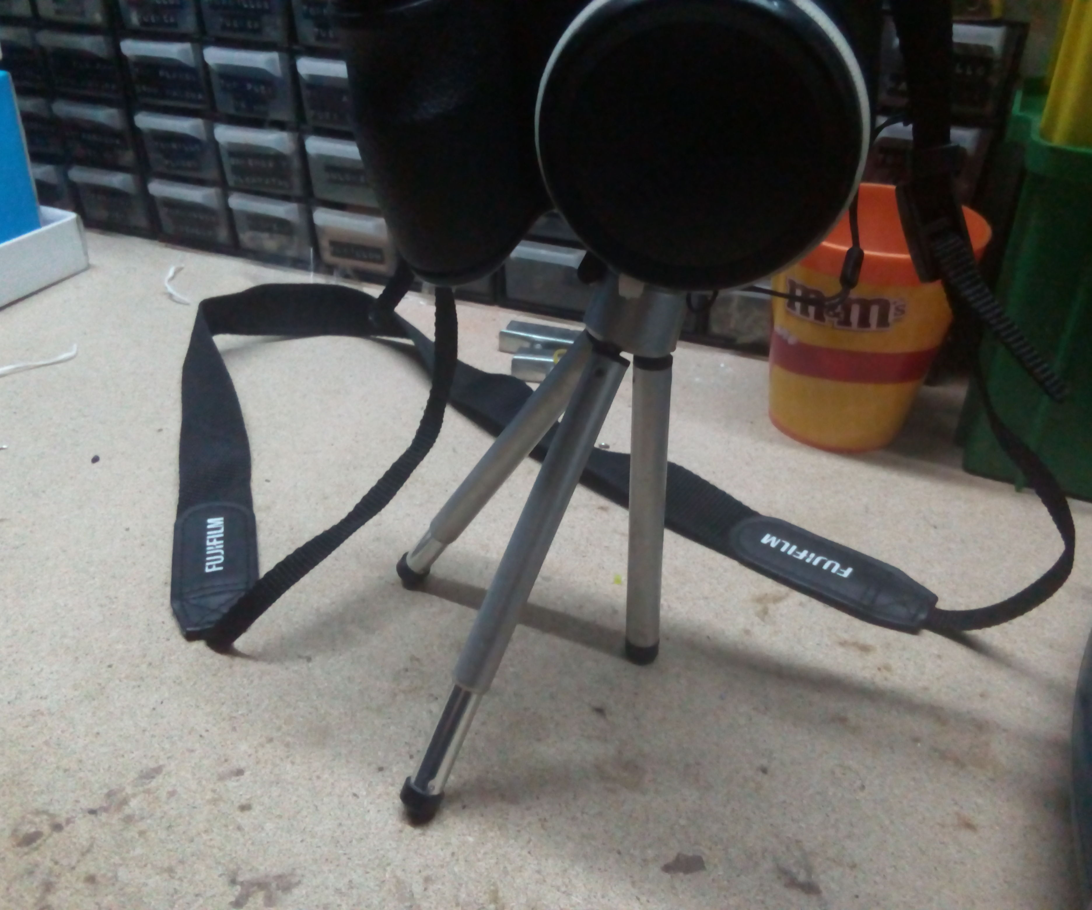Redneck recycling and fix for free loosy tripod legs