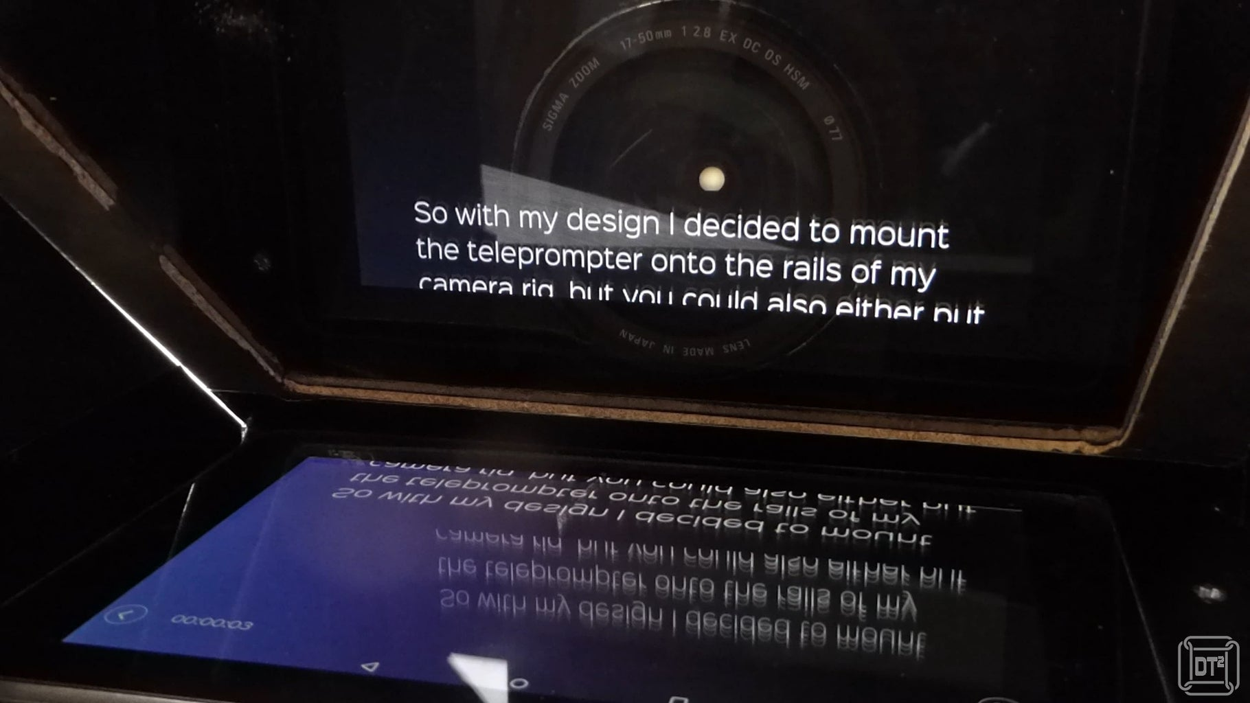 Using the Teleprompter