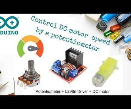 Control DC Motor Speed Using Potentiometer + L298n + Arduino
