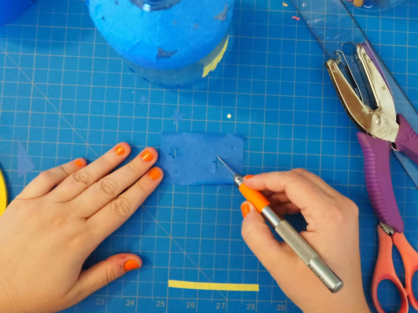 Make Small Details With a Craft Knife or Hole Punch
