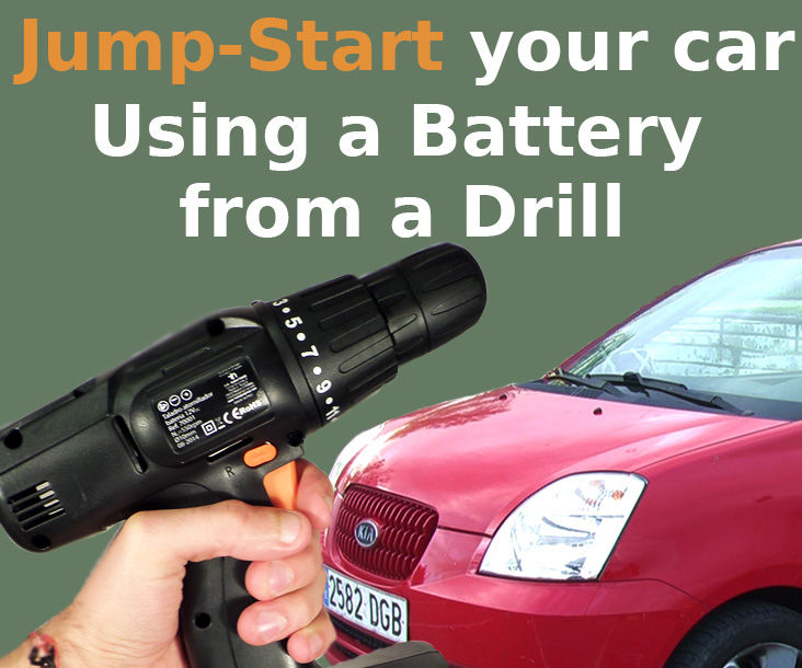Jump-Start Your Car with Drill's Battery