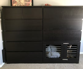 Modern Dog Kennel (Ikea Malm Hack)