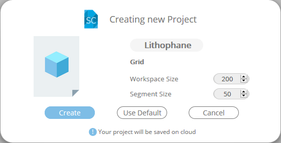 Create New SelfCAD Project