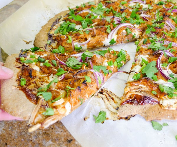 CPK's Barbecue Chicken Pizza With Whole Wheat Crust