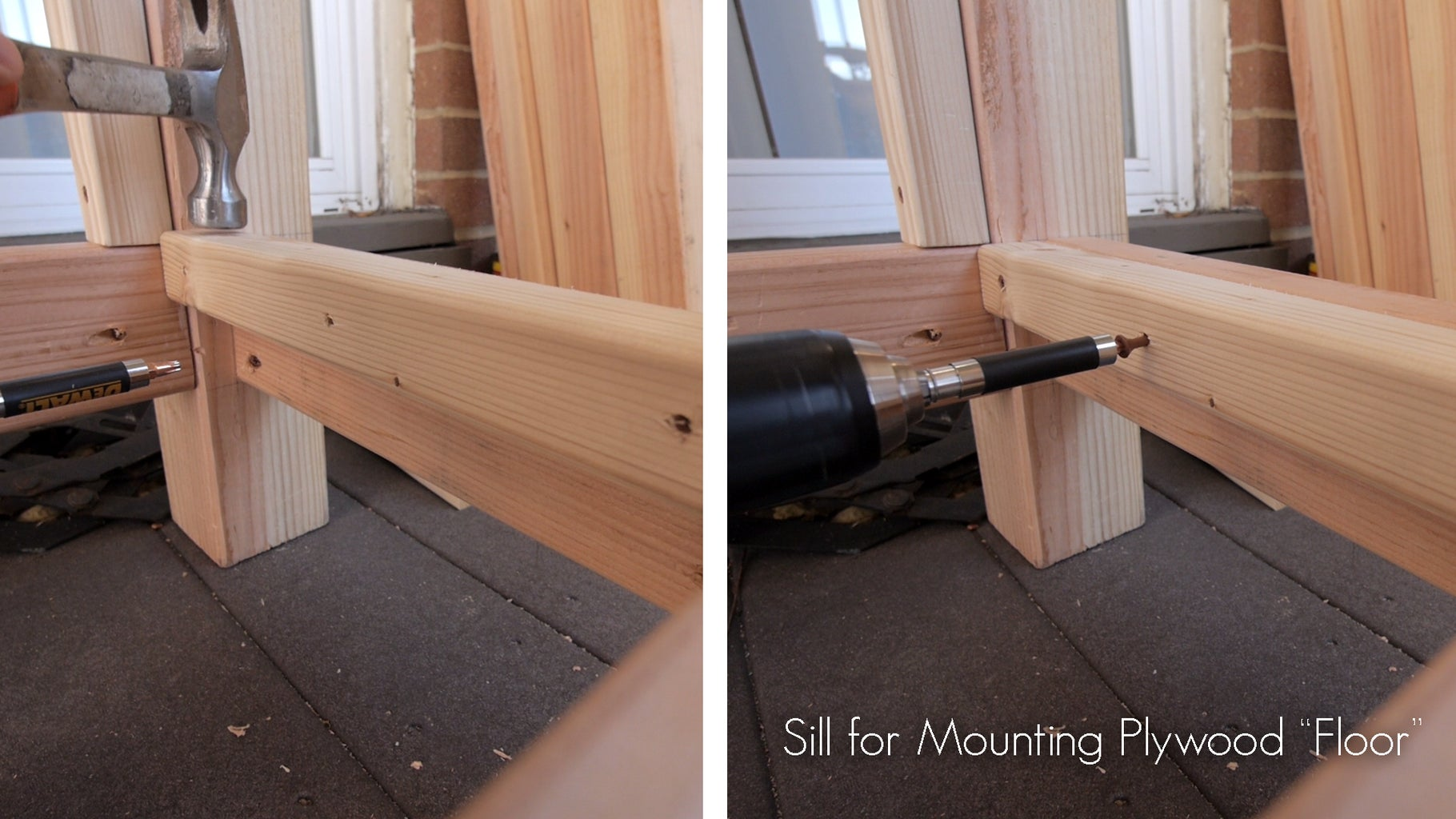 Sills for the Ends of the Plywood Floor