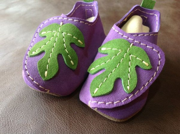 """All Leather """"Fig"""" Baby Moccasins"""