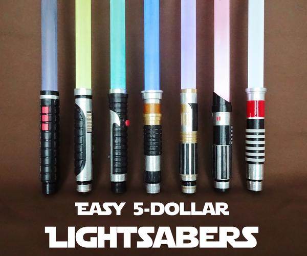 Easy $5 Lightsabers