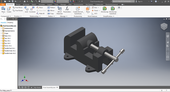 How to Create a Vise Assembly on Inventor