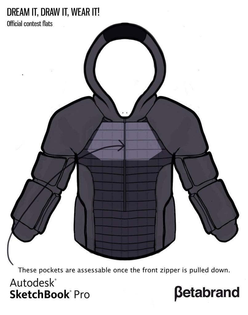 Detailed Description of Hoodie [Inner Pocket Top]