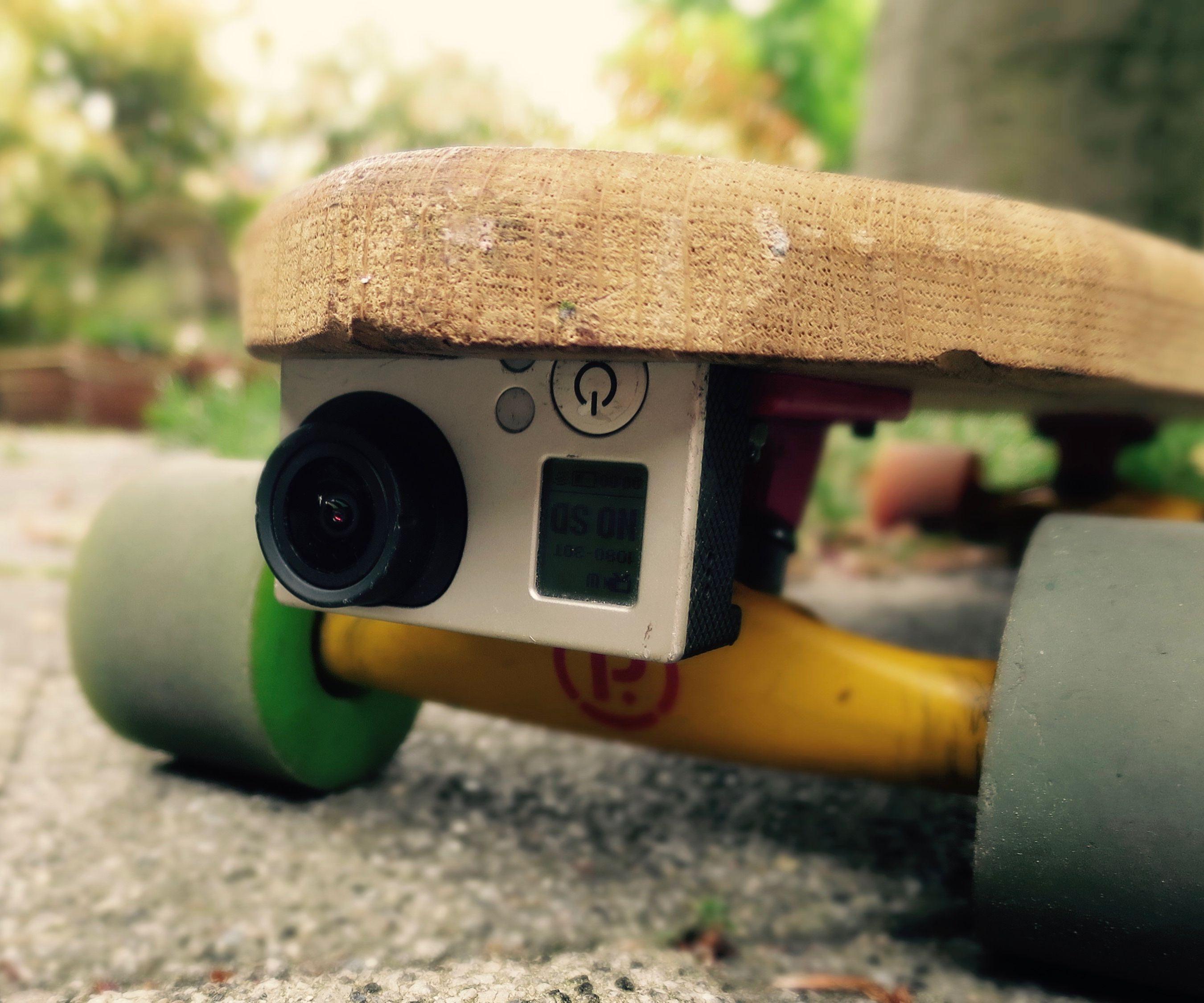 Gopro holder for skate-DIY