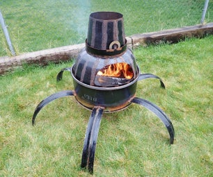 Steel Drum Backyard Fire Pit