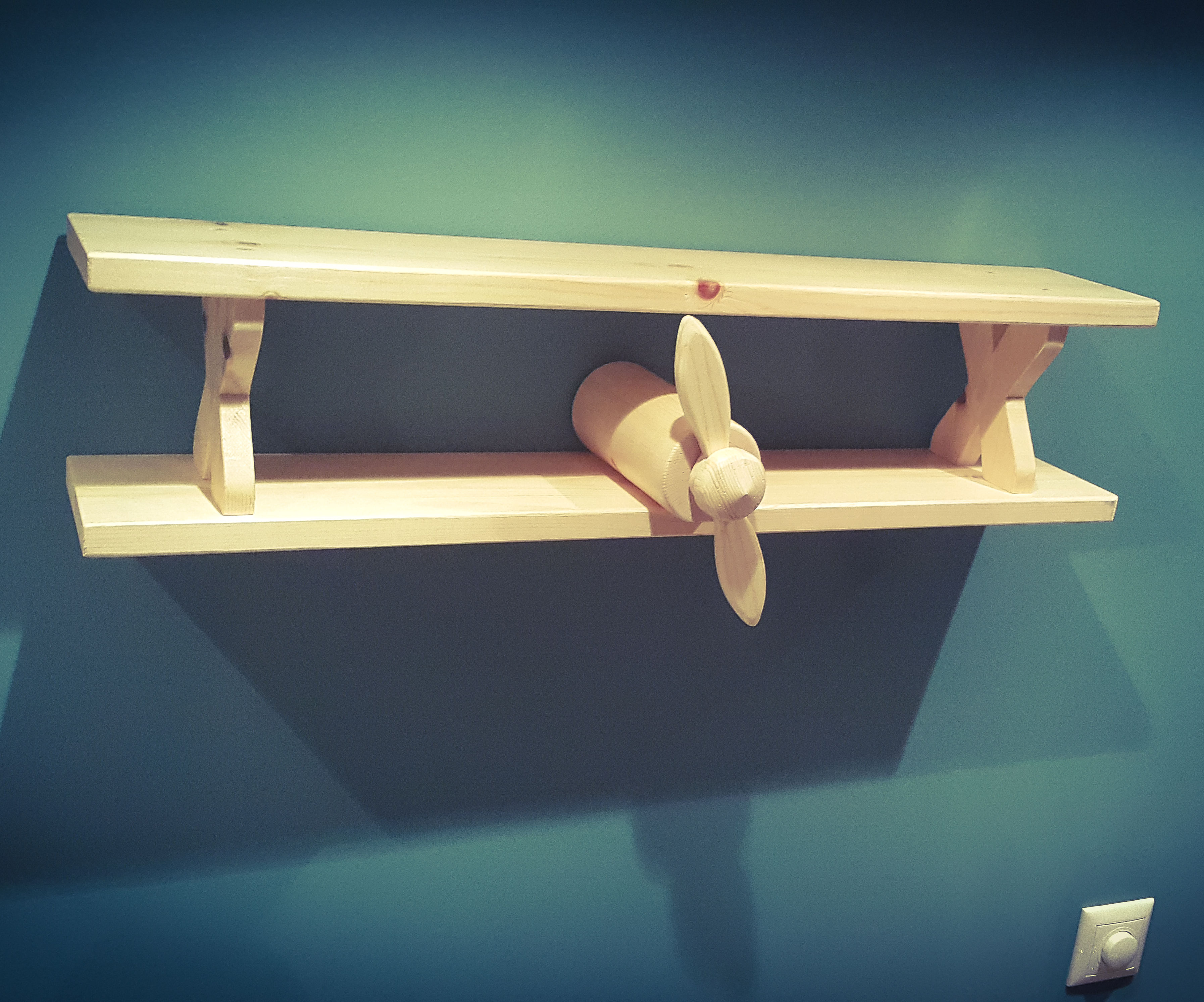 Making an Airplane Shelf for Kids Bedroom