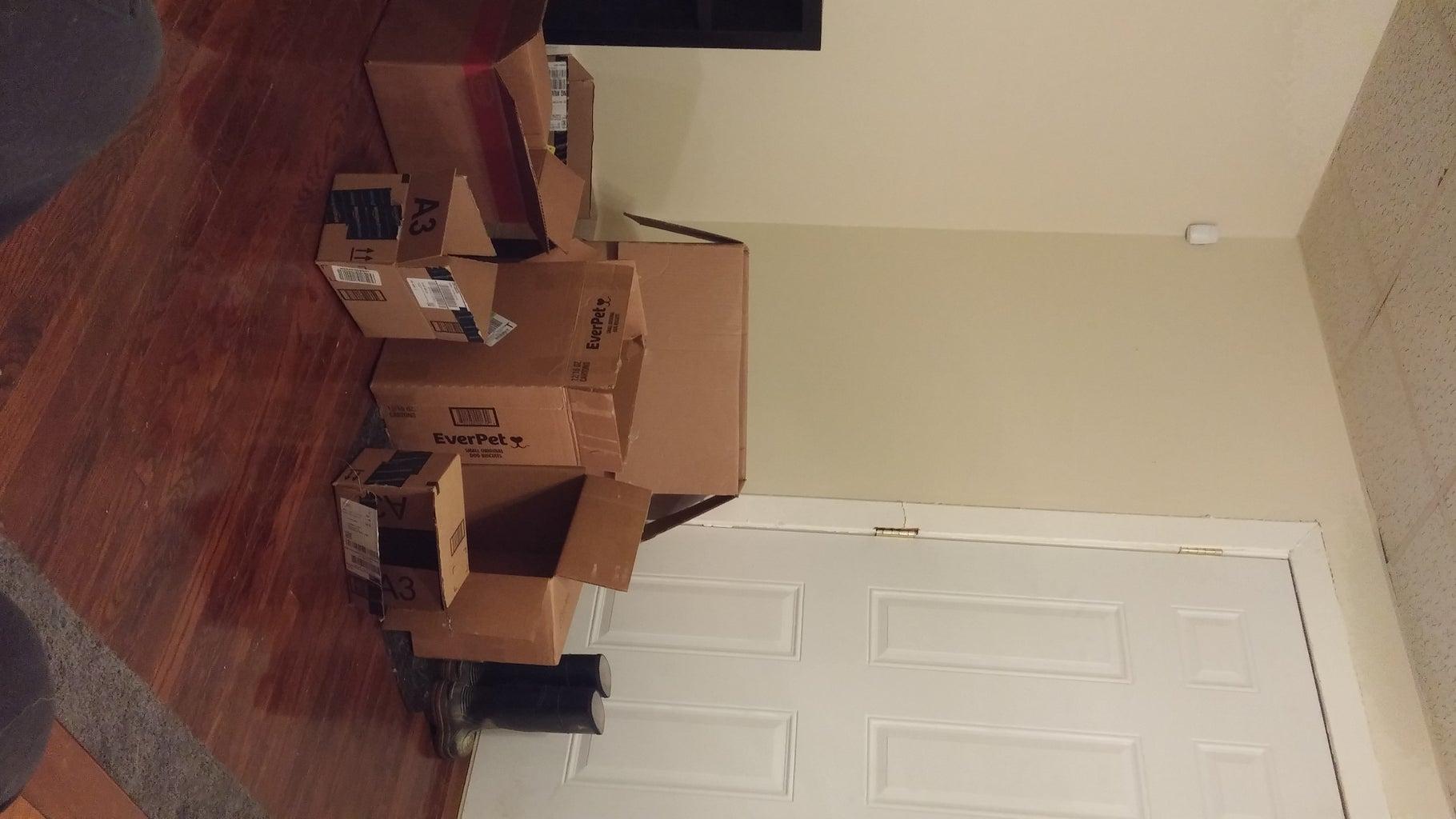 Cardboard Box Shoe Rack