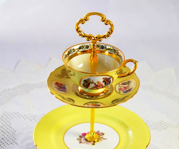 How to Make a 3 Tier Cake Stand Mad Hatter Style