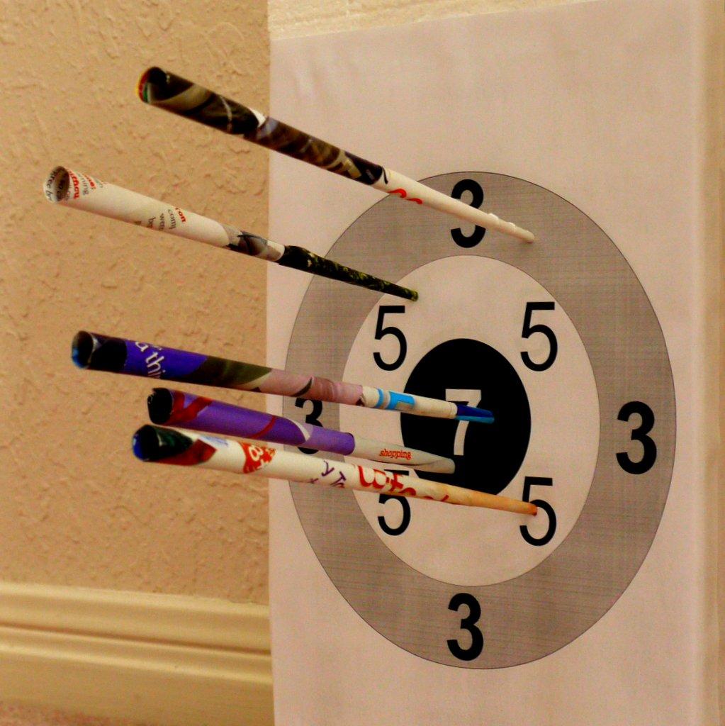 Blowguns and paper cone darts