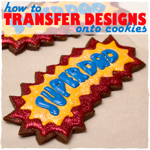 How To Transfer Designs Onto Cookies