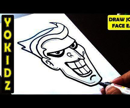 HOW TO DRAW JOKER FACE EASY