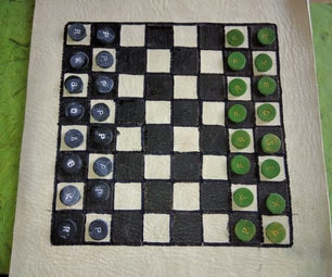 Portable Leather Chess Set