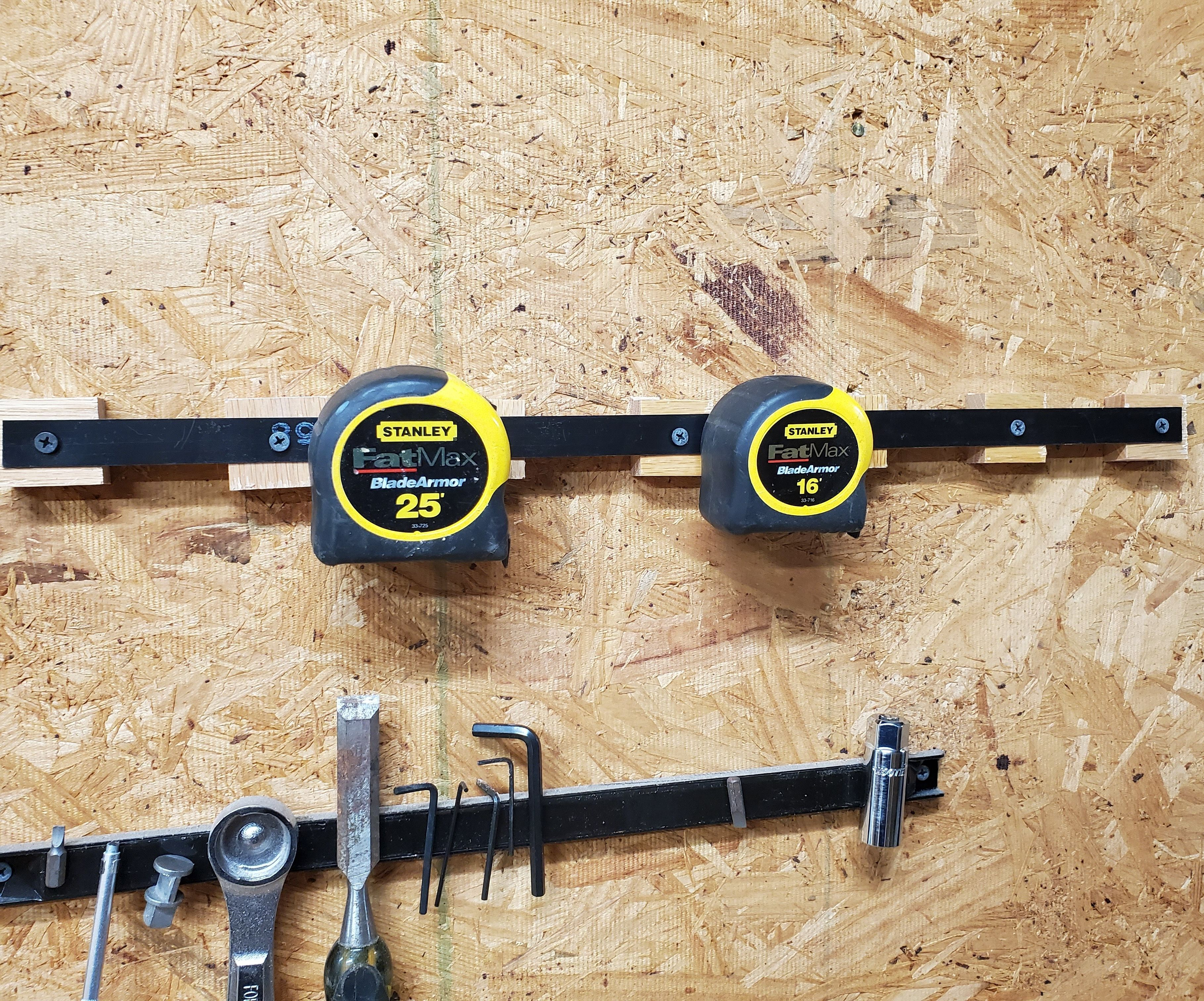 Warning! Tape Measure Rack