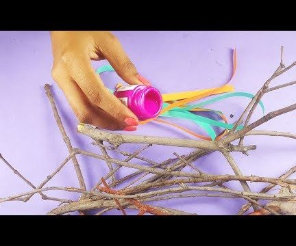 How to Make a Creative DIY Wall Hanging Using Dry Branches?