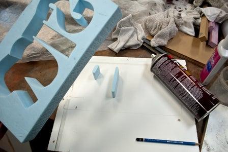 Glue to the Base Board