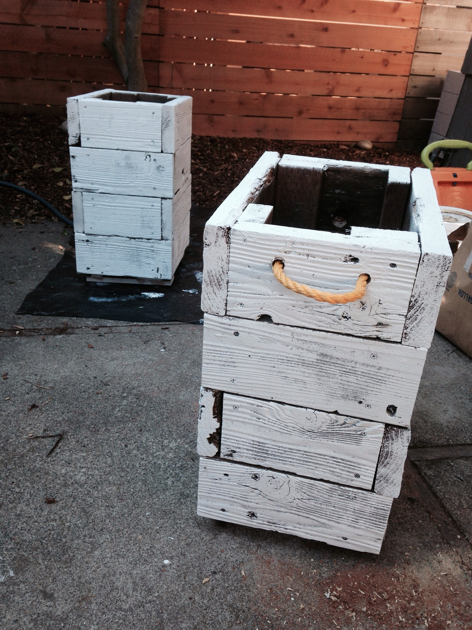 Wooden Planters From Reclaimed Decking
