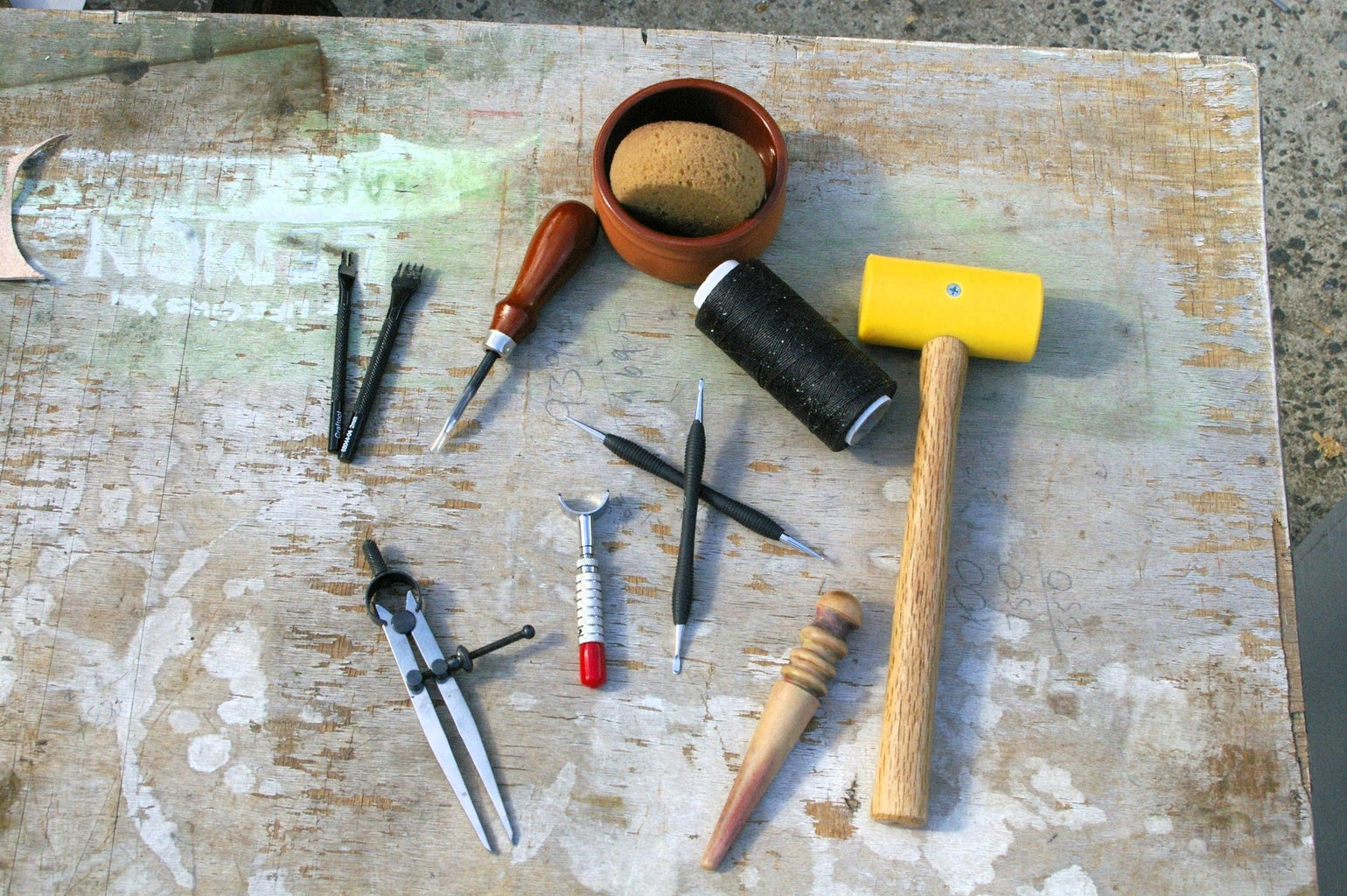 Homemade or Makeshift Tools to Make a Leather Pendant