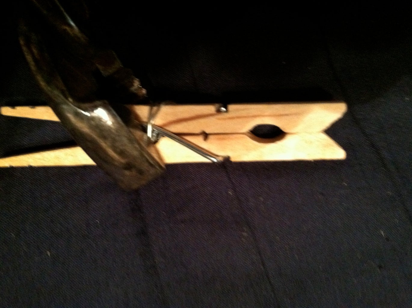 Securing Sharp End Between Wooden Pieces
