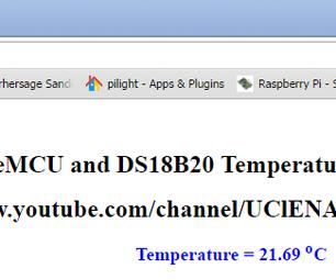NodeMCU Temp With Webserver