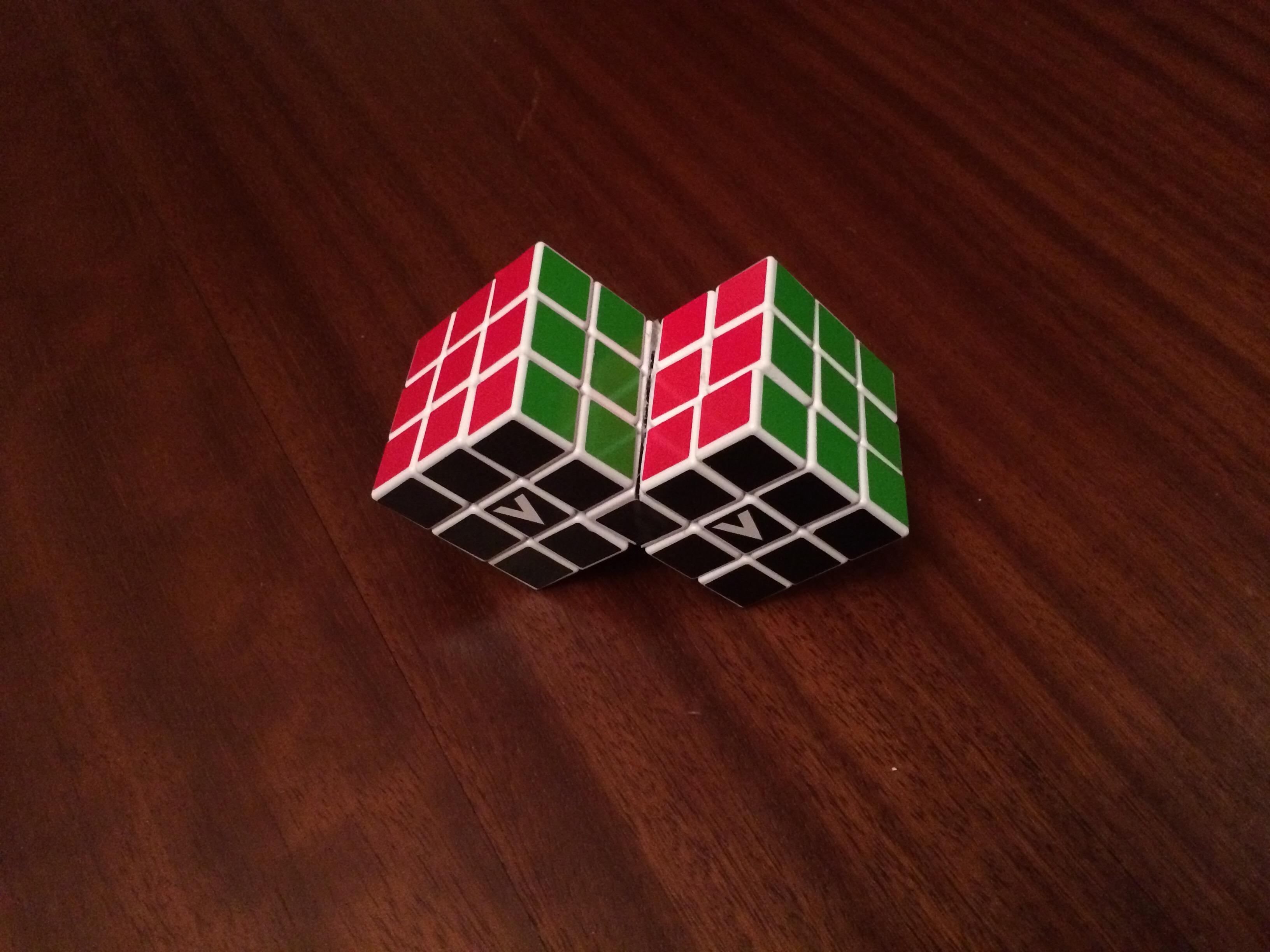 Siamese Rubiks Cubes