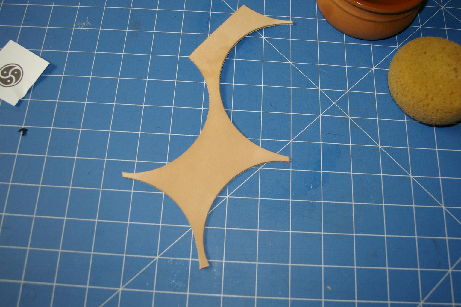 Casing the Leather and Transfering the Pattern