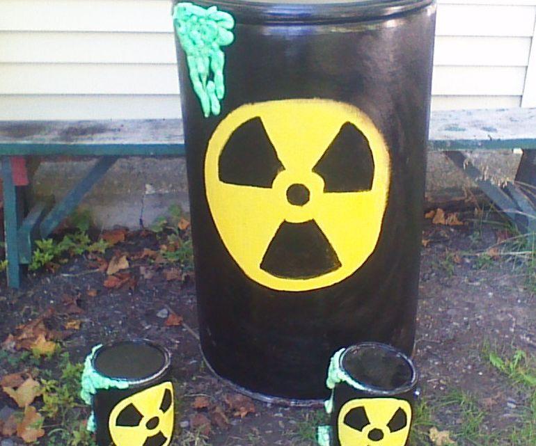 Leaking bio hazard Halloween decor