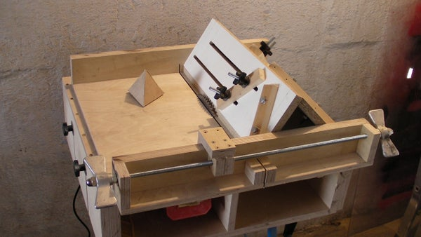 Homemade Table Saw Sledge - Part 4 - Jig to Build Tetrahedrons and Pyramids