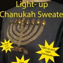 "Light-up Chanukah Sweater With Individual ""candles"""