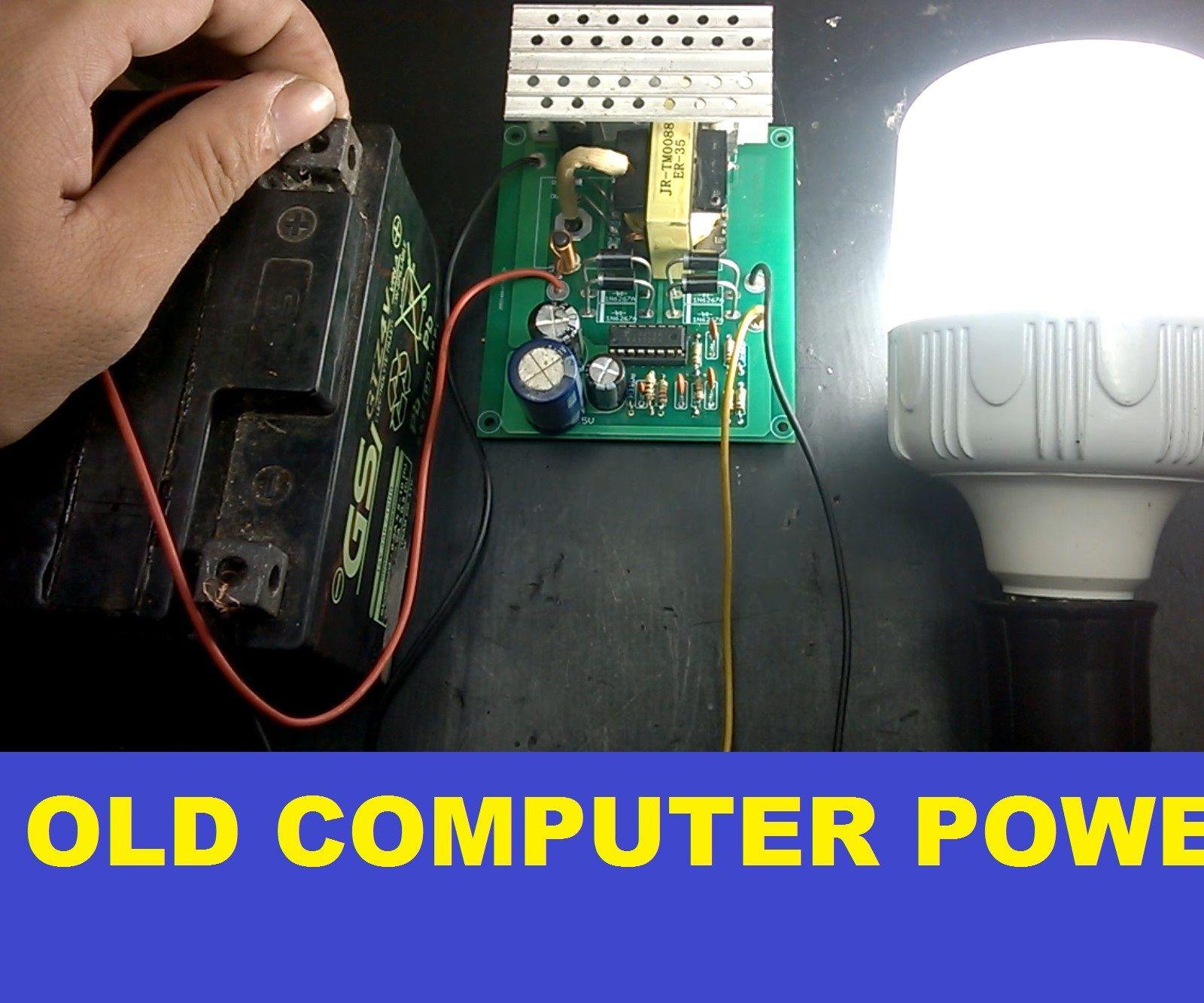 Make 350W Power Inverter 12V 220V From OLD Computer Power Supply