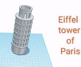 3D Designing of Leaning Tower of Paris by Tinkercad