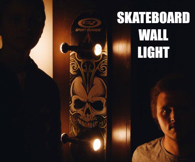 Skatboard Wall Lamp