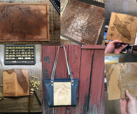 Leather Map Carving