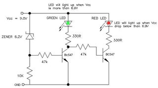 9v Battery Status Indicator Circuit Instructables