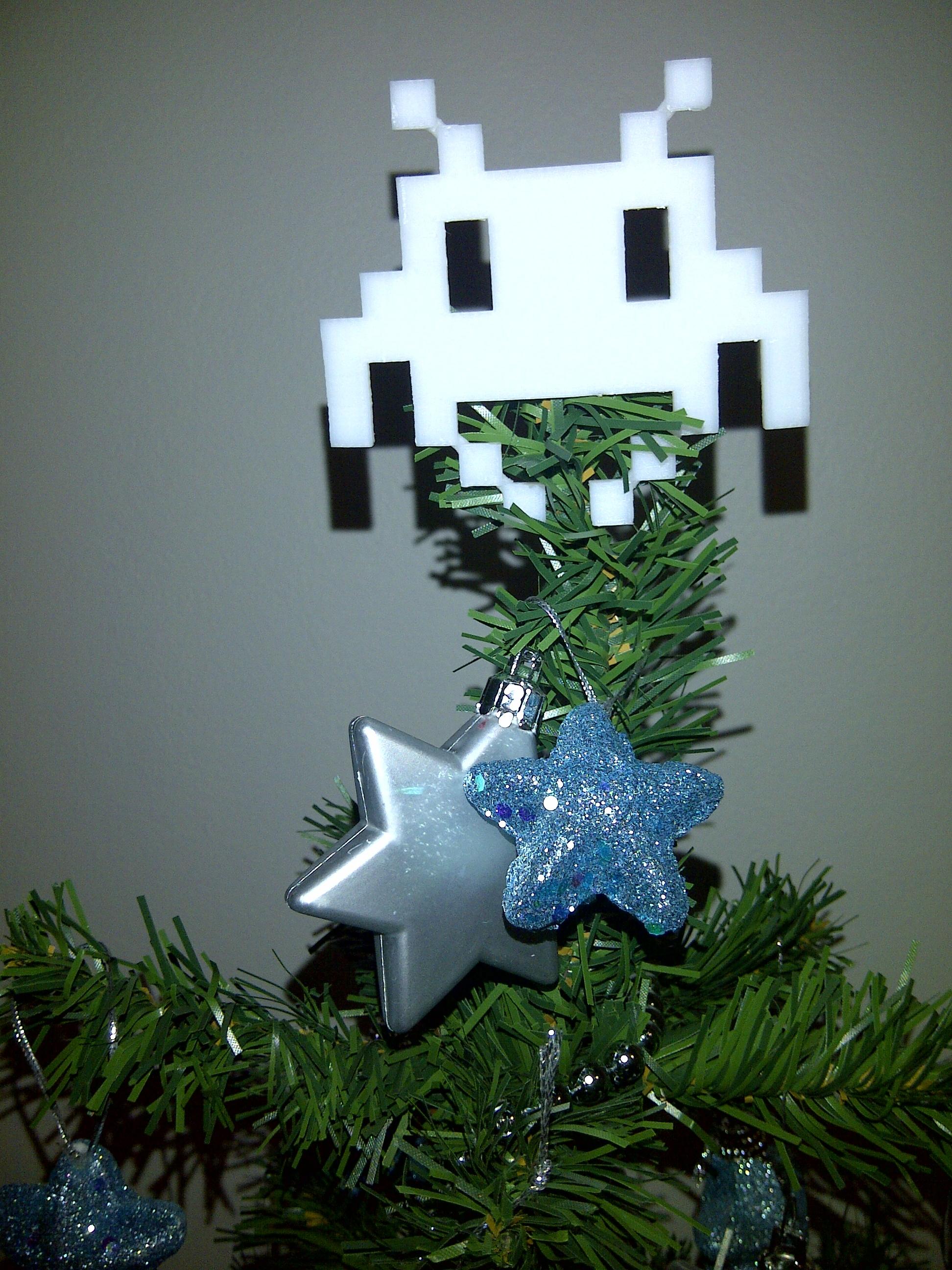 """3D Printed Space Invader """"Angel"""""""
