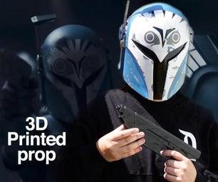 3d Printed Bo Katan Helmet || Finishing and Painting 3d Props
