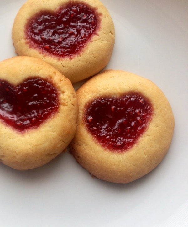 Thumbprint Cookies of Love